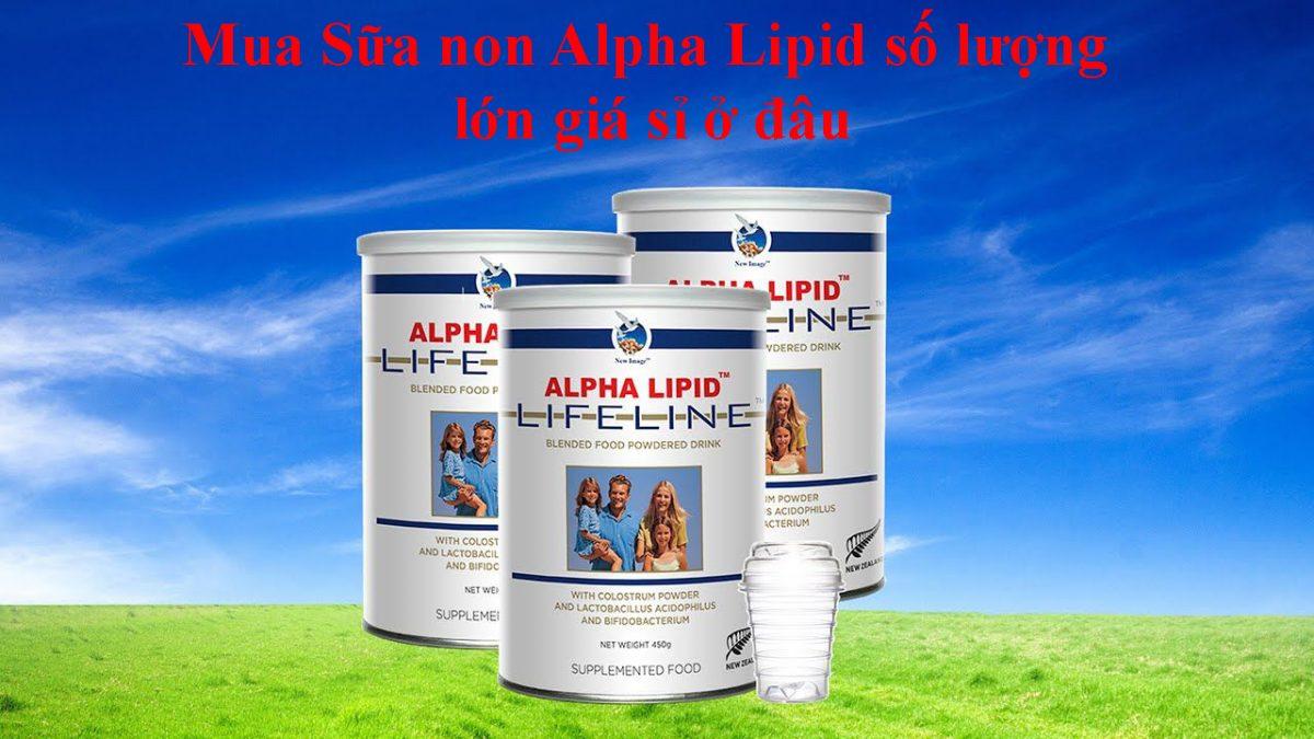 Mua Sữa non Alpha Lipid số lượng lớn giá sỉ ở đâu