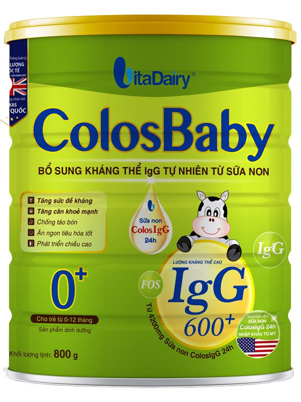 hình ảnh Sữa non Colosbaby 0 cho bé loại 800g