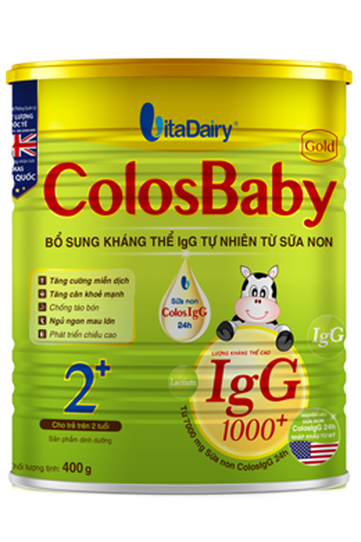 Sữa non Colosbaby 2+ cho bé 2 tuổi loại 400g của Vitadairy
