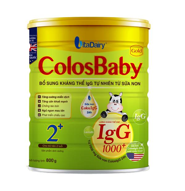 Sữa non Colosbaby 2+ cho bé từ 2 tuổi của Vitadairy