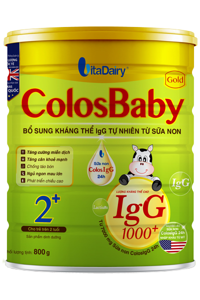 Sữa non Colosbaby 2+ cho bé 2 tuổi loại 800g của Vitadairy