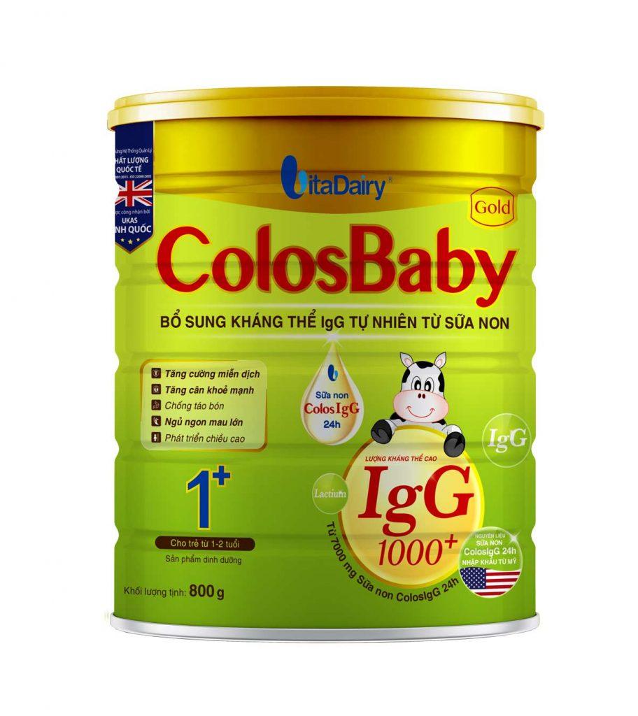 Sữa non Colosbaby Gold 1+ cho bé từ 1 tuổi của Vitadairy