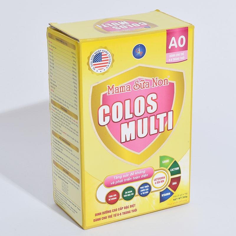 Mama sữa non Colos Multi A0 cho bé từ 0-6 tháng tuổi.