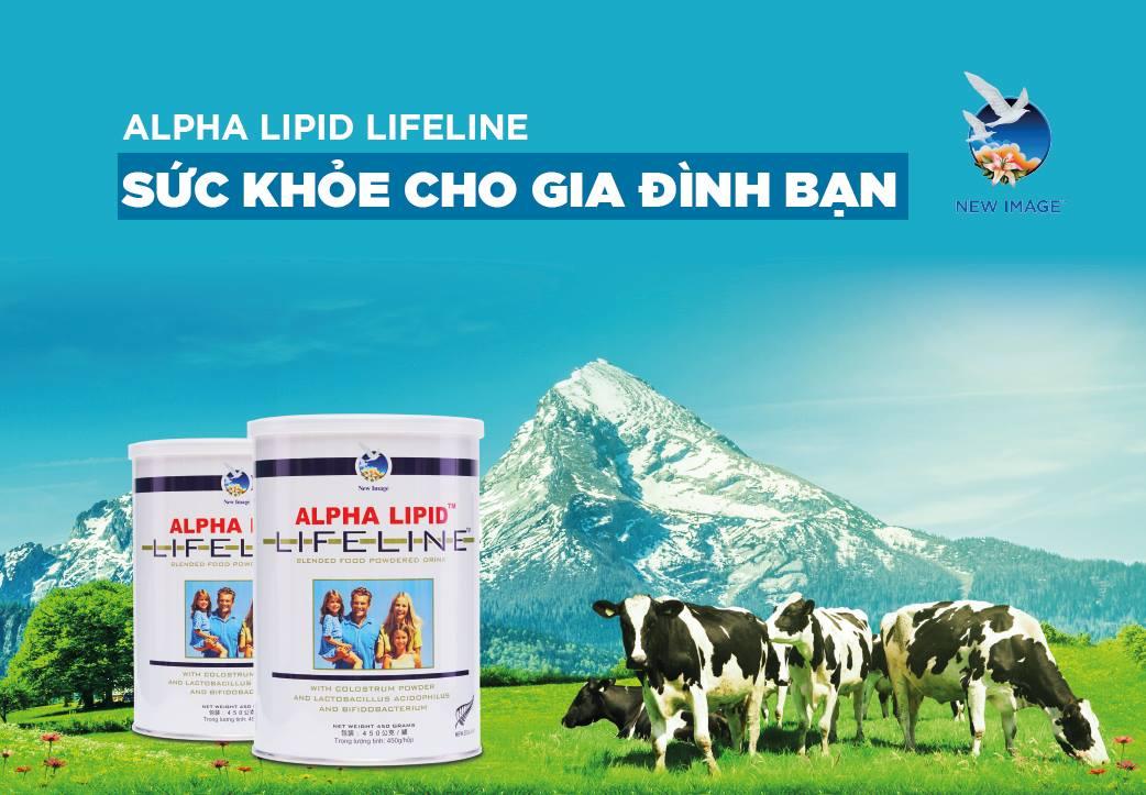 sữa non Alpha Lipid có hàm lượng canxi rất cao