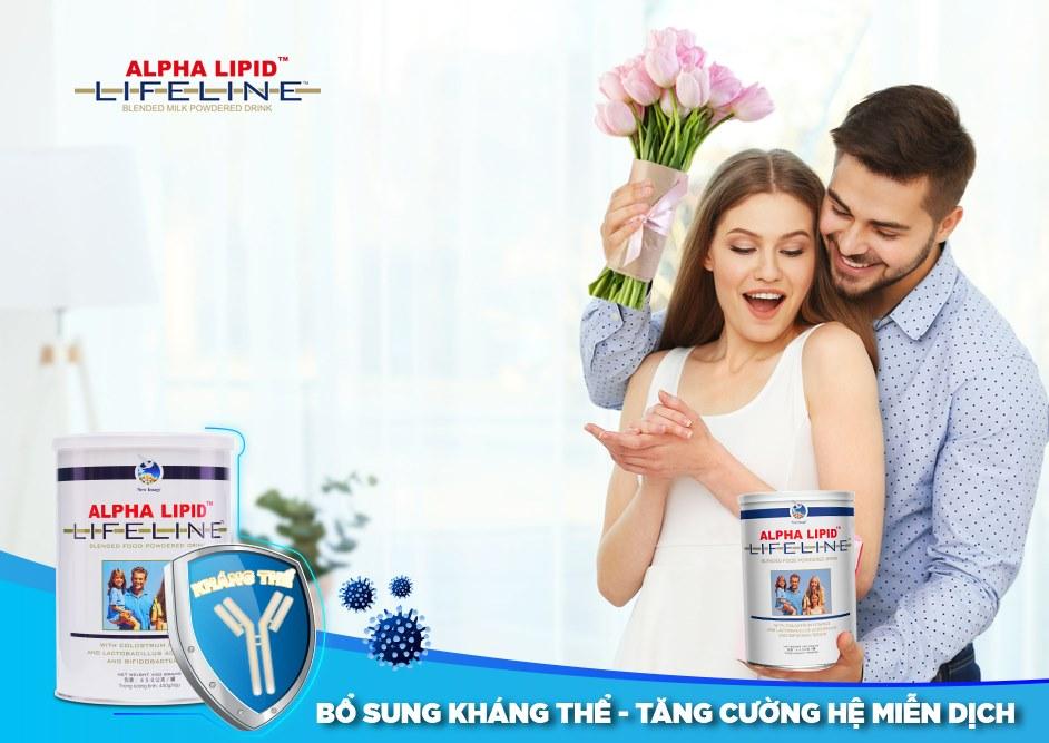 Sữa Non Alpha Lipid có chứa 6000 mg canxi trong 100g sữa