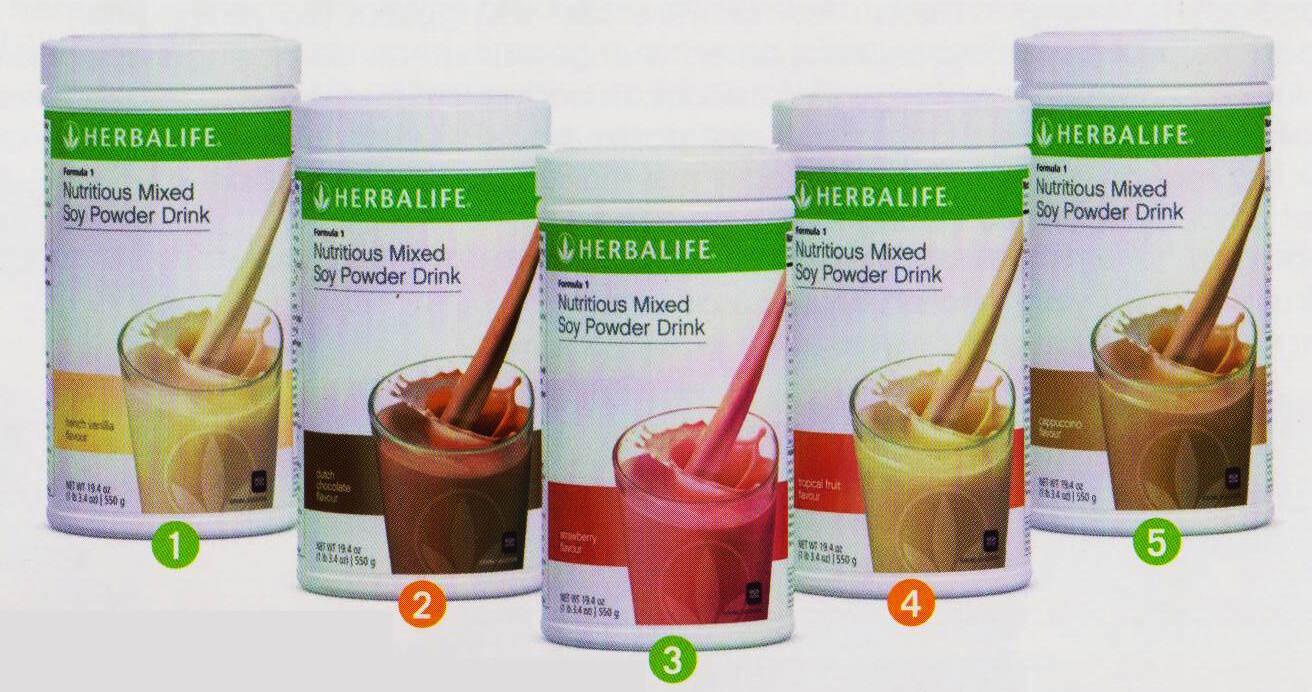Các dòng sản phẩm bữa ăn lành mạnh herbalife