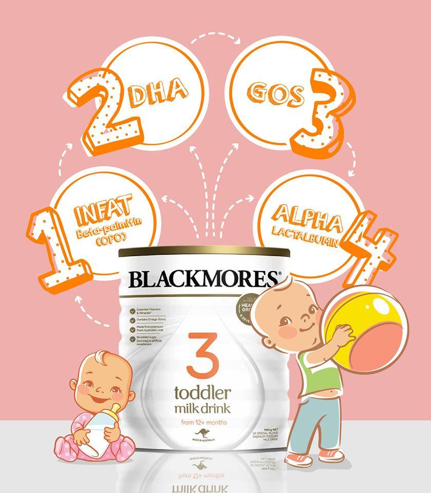 Công dụng của sữa blackmore