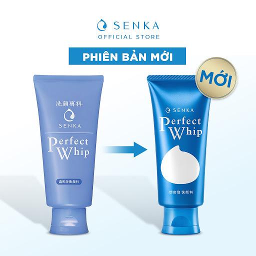 Sữa rửa mặt Senka Perfect Whip màu xanh dương