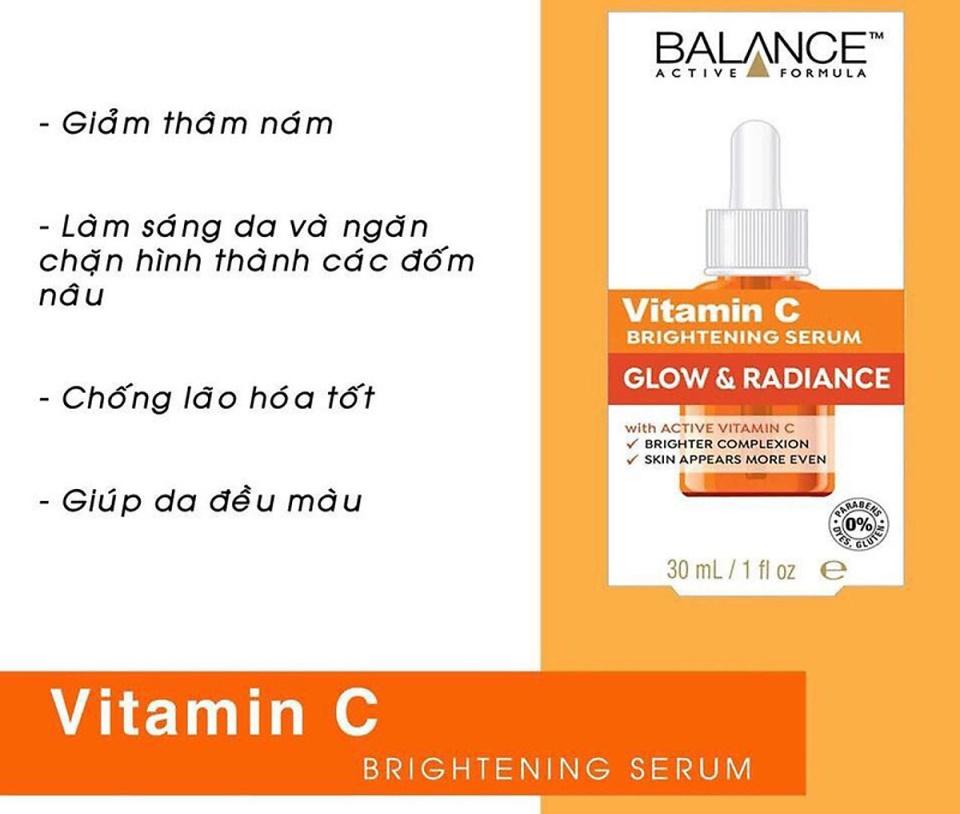 Ưu điểm của serum vitamin C Balance